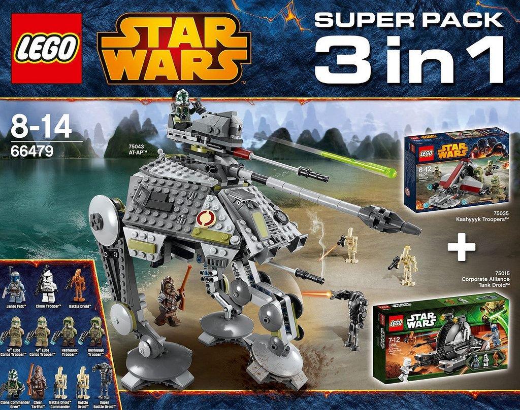 Lego Star Wars - 66479 Value Pack 3 in 1 (75015 + 75035 + 75043): Amazon.es: Juguetes y juegos