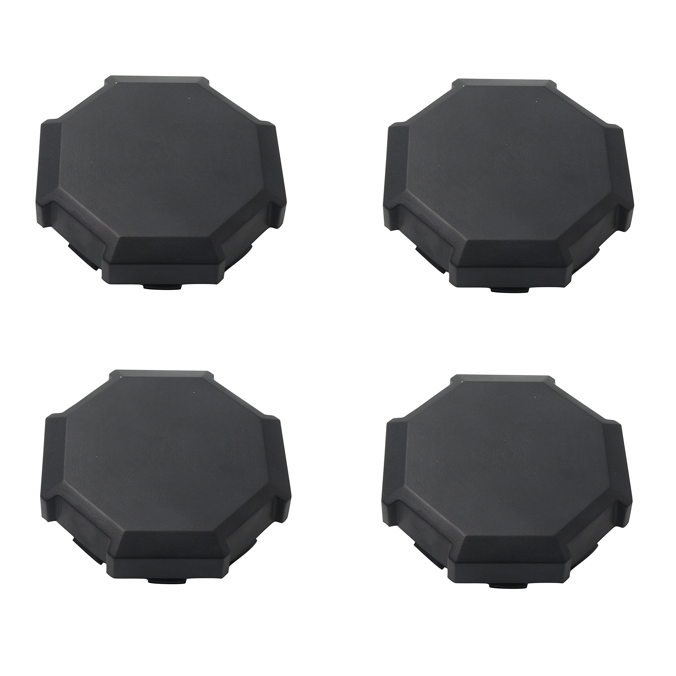 CPOWACE Pack 4 Wheel Tire Rim Hub Cap Cover For Polaris RZR 900 100 XP 4 1522216-655 (Black)