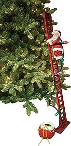 Mr. Christmas Super Climbing Santa Holiday Decor, Red (Renewed)