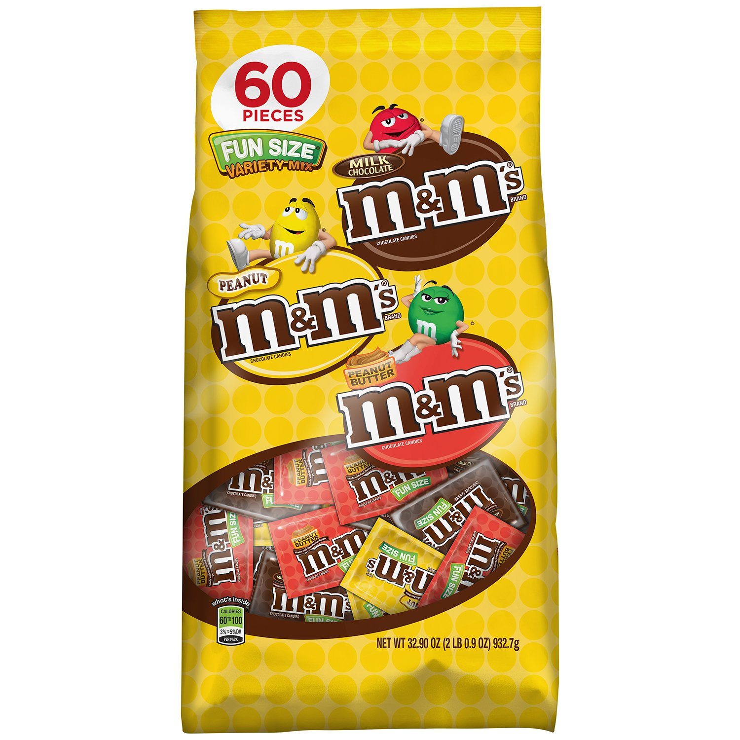 Amazon.com : M&M'S Variety Mix Chocolate Candy Fun Size 32.9-Ounce ...