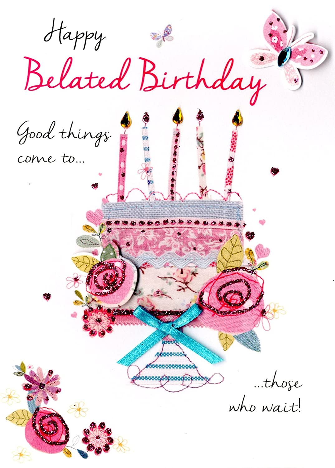 Amazon Happy Belated Birthday Greeting Card Second Nature Just