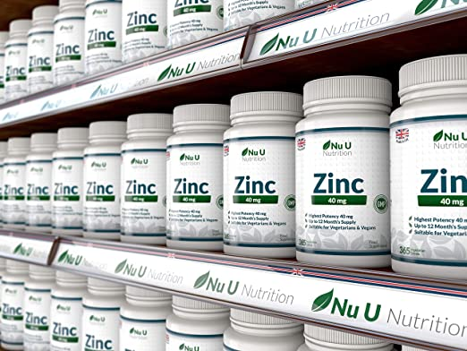 Amazon.com: ZINC 50mg 365 Tablets (12 Months Supply), 1 Easy to Swallow Zinc Gluconate Tablet Per Day by Nu U Nutrition by Nu U: Health & Personal Care