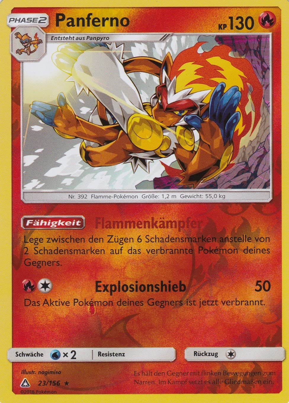 Panferno Pokemon 23//156 Deutsch Rare Holo Ultra-Prisma