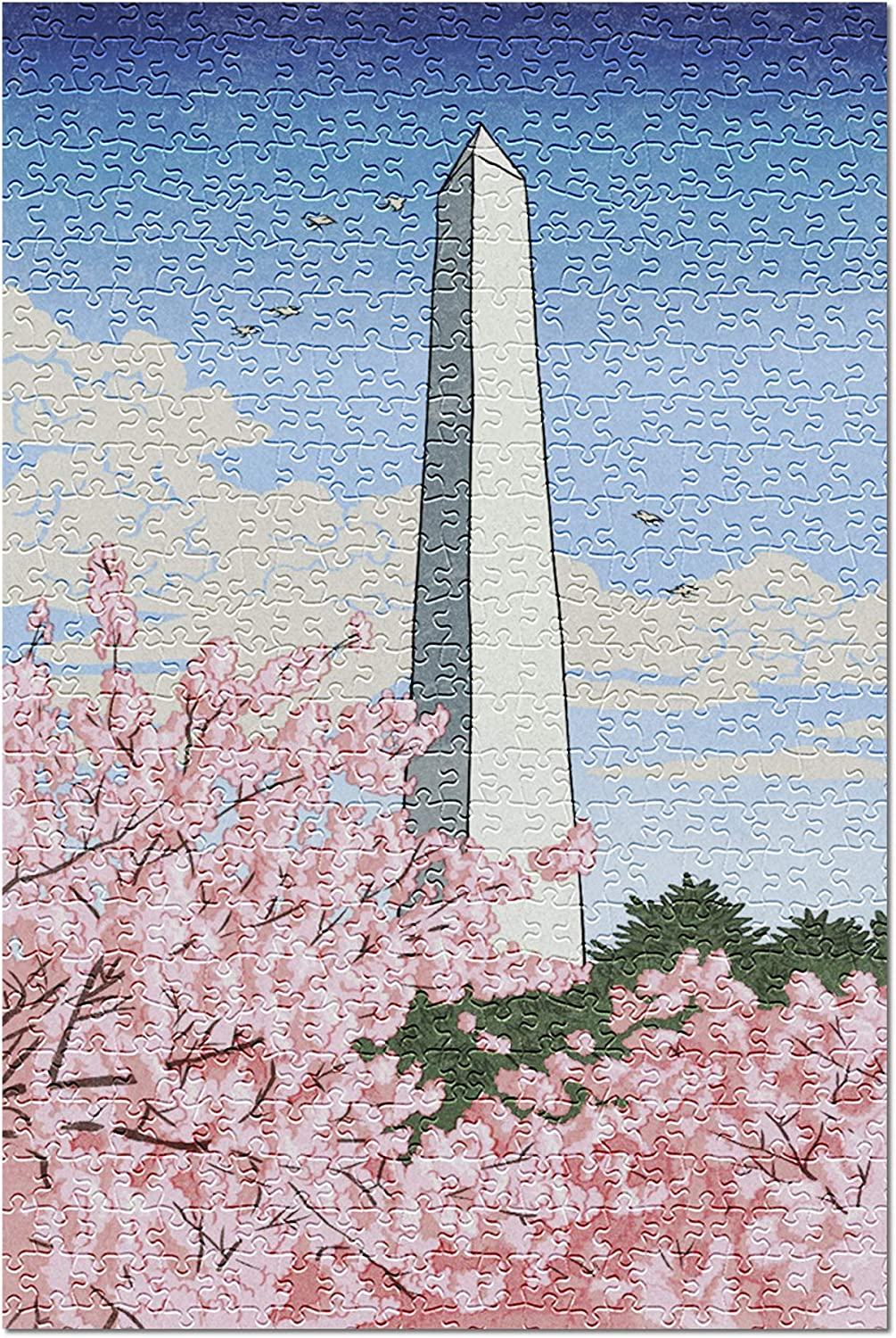 Gorgerous Washington Dc Wood-Material,20.6 X 15.1 Inch Entertainment Toys for Adult Special Graduation 500 Piece Jigsaw Puzzle
