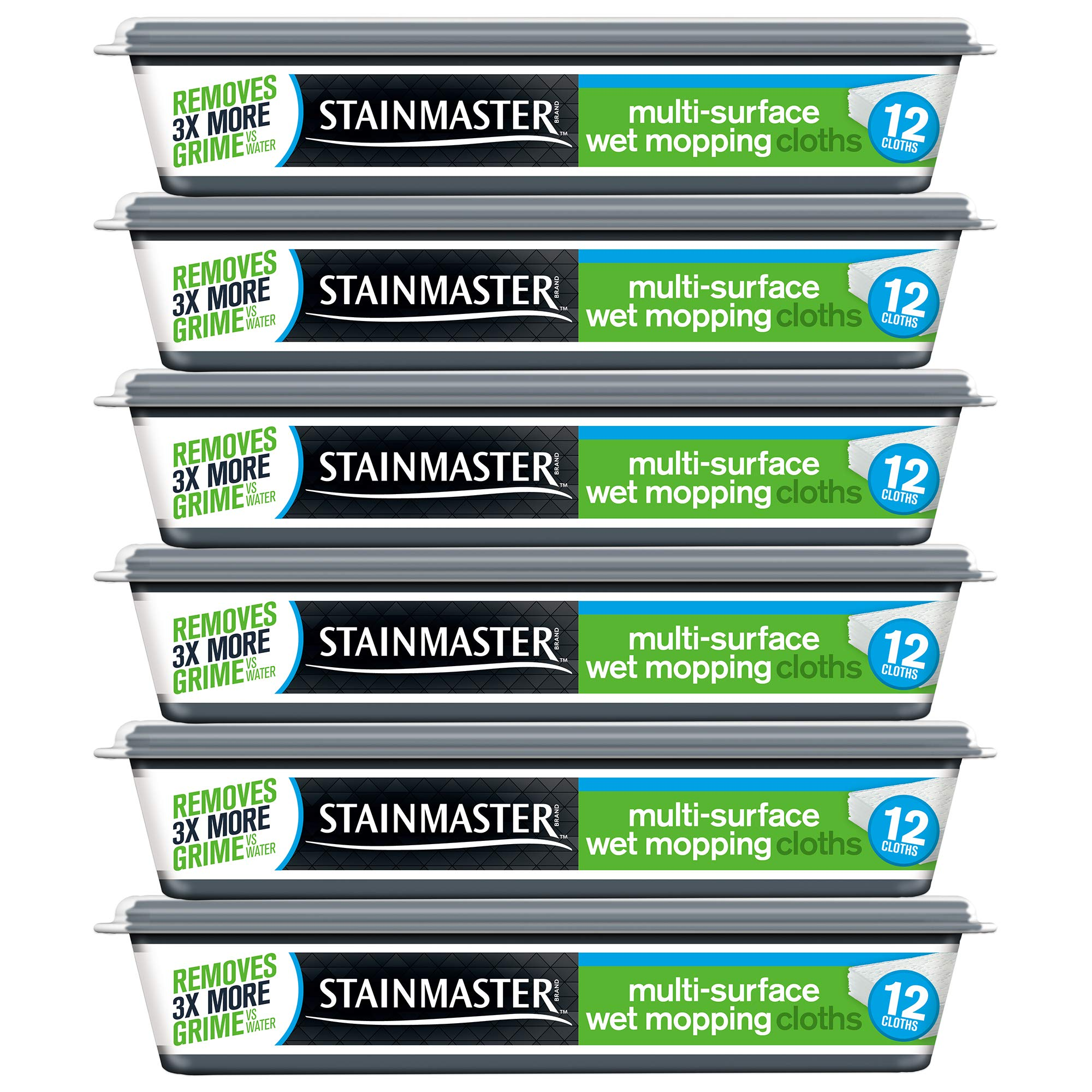 STAINMASTER Wet Mopping Cloths, 72 Count, 6 Packs of 12 Mopping Cloths