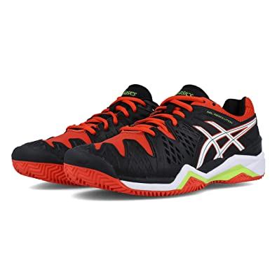 63e1703b3 Asics-Gel Resolution 6 Clay - Men's Tennis Shoes - E503Y 9001 -  Black/White/Orange (US 11 - cm 28.5), Tennis - Amazon Canada