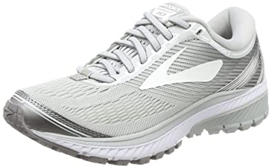 7cdd437fe1158 Brooks Women s Ghost 10 Microchip White Metallic Charcoal 12 B US