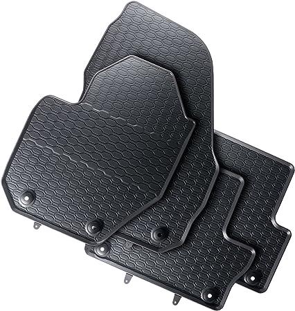 Black Gledrin1903 Rubbasol Rubber Narrow Spare Tyre Trunk Mat 2008-2016