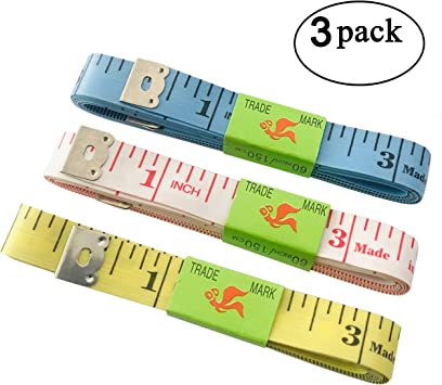 60-Inch Tape Measure Measuring Tape for Body Fabric Sewing Tailor Cloth Knitting Craft Measurements