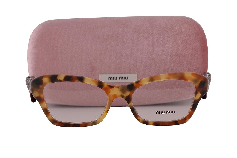 6adaeff32bb1 Miu Miu MU05OV Eyeglasses 51-17-145 Sand Medium Havana UA51O1 MU 05OV For  Women  Amazon.ca  Clothing   Accessories