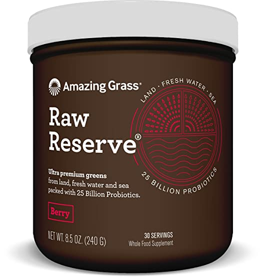 Amazing Grass Raw Reserve Berry 30 servings, 8.5 Oz