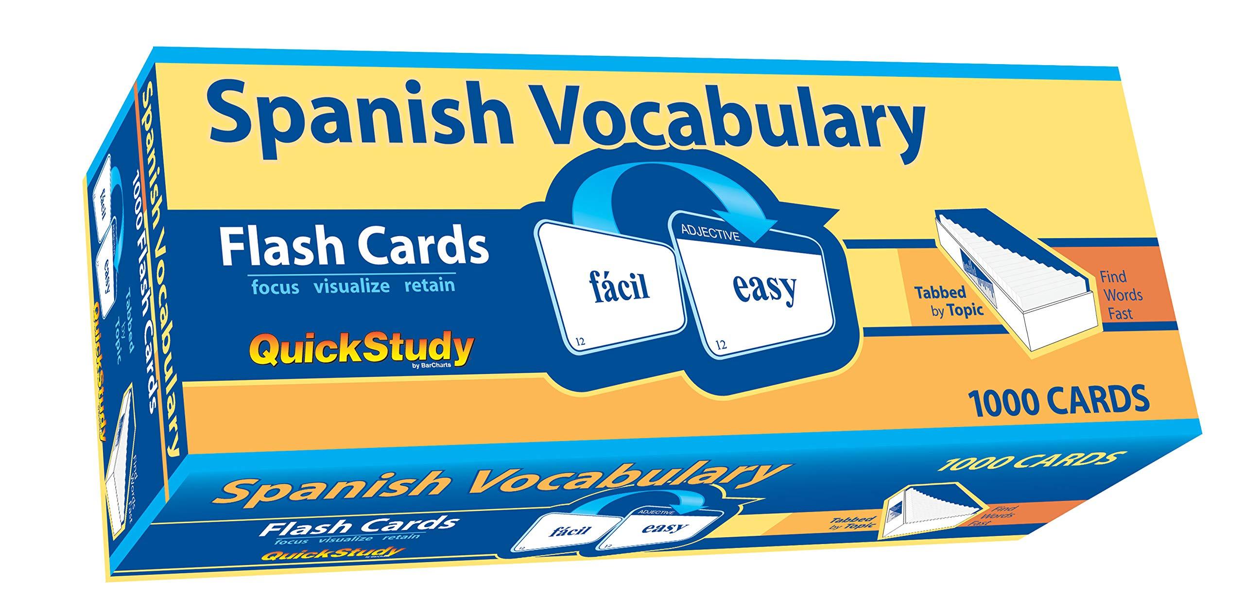 Spanish Vocabulary Flash Cards (Quickstudy (Flash Cards