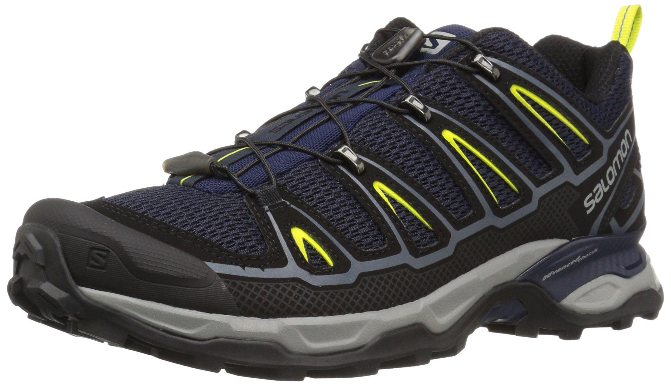 Salomon Men's X Ultra 2 Hiking Shoe, Navy Blazer/Ombre Blue/Sulphur Spring, 10 D US
