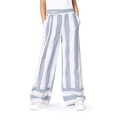 Brand - find. Women's High Waist Wide-Leg Wide Stripe Pants: Clothing