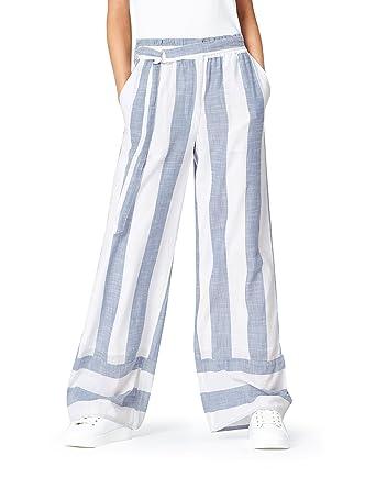stile limitato nuovo stile di prezzo limitato Marchio Amazon - find. Pantalone in Lino a Palazzo Donna