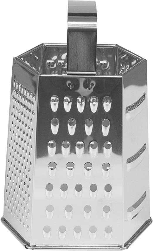 Fox Run 5550 6-Sided Grater 9-Inch Stainless Steel