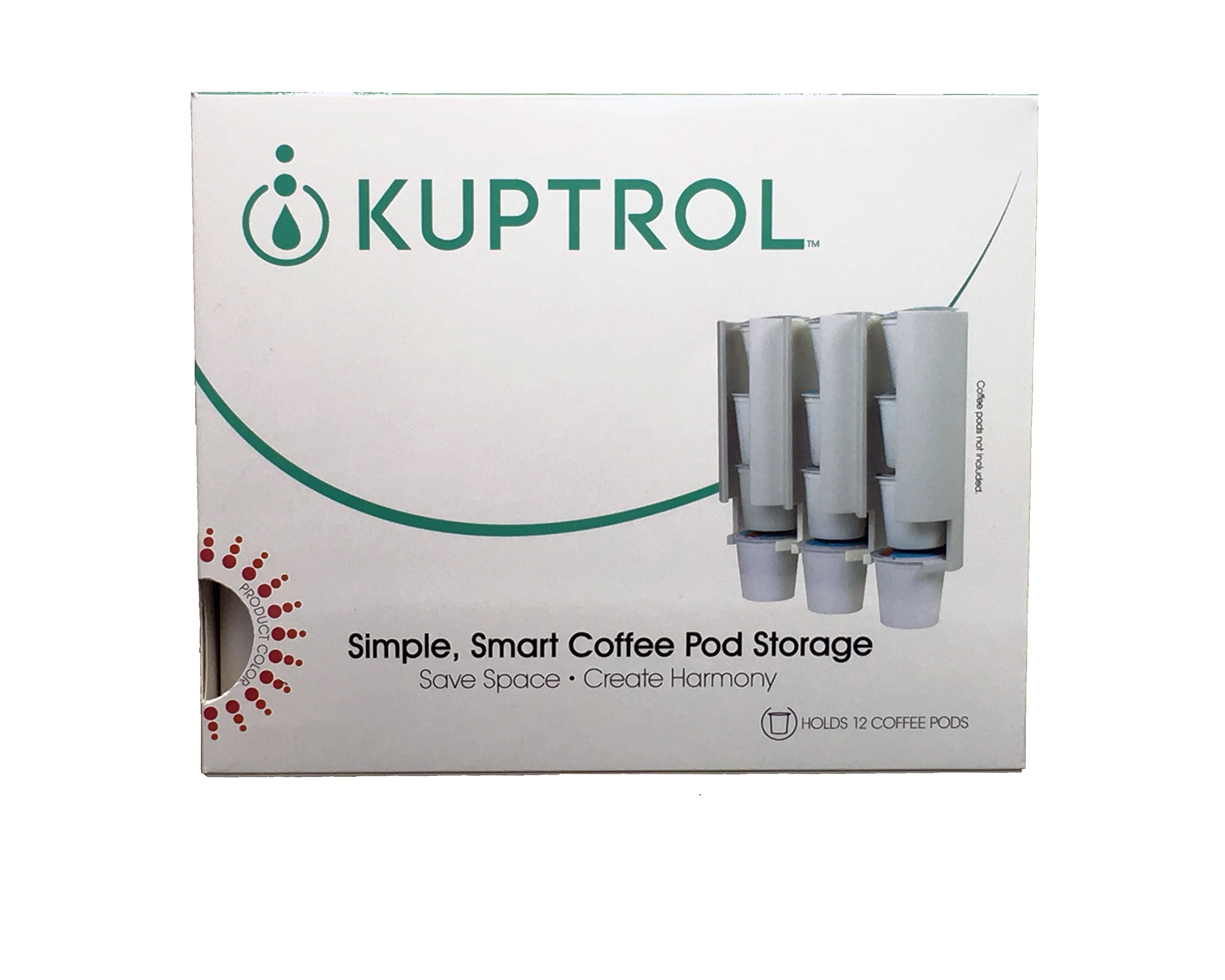 Kuptrol K-Cup Coffee Pod Holder - Maximize countertop space in a simple, smart way.