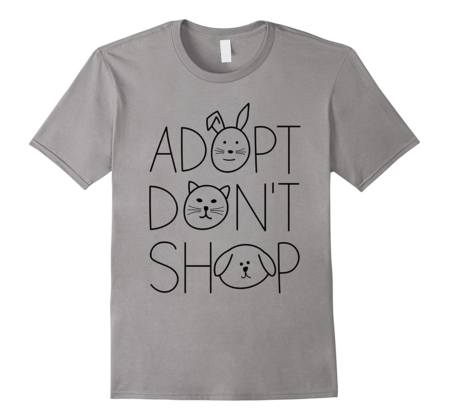 Adopt Don't Shop Animal Rescue T-Shirts For Animal Lovers-4LVS