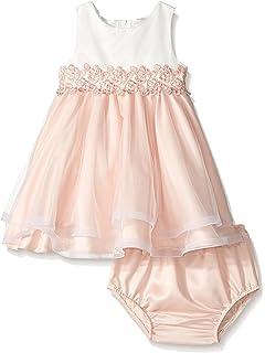 6173354b175e Amazon.com  Rare Editions Baby Girls  Lace Illusion Social Dress ...