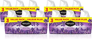 Renuzit Gel Air Freshener, Lovely Lavender, 12 Count