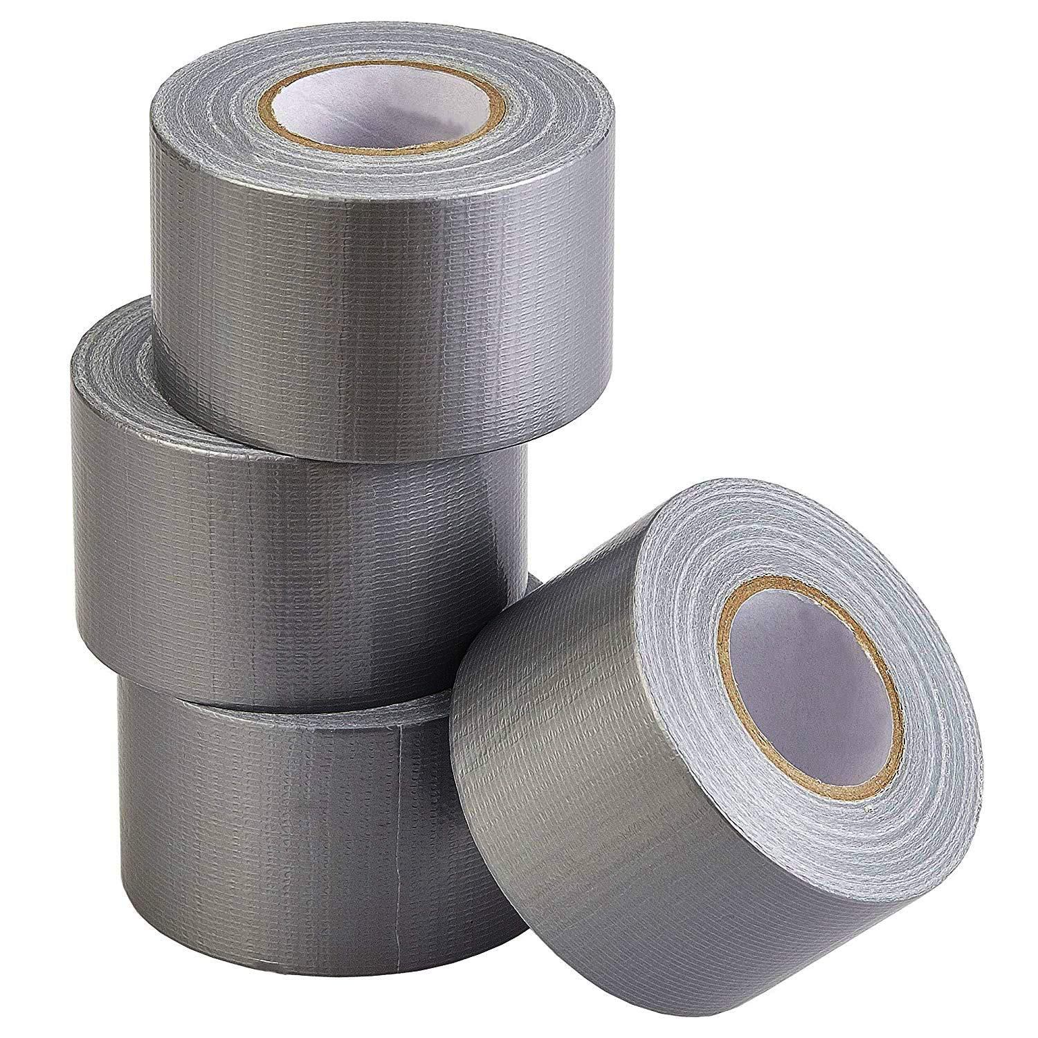 """Duct Tape 2/"""" by 10 yards each Silver Adhesive Tape New Sealed ~ 2 Rolls of Tape"""