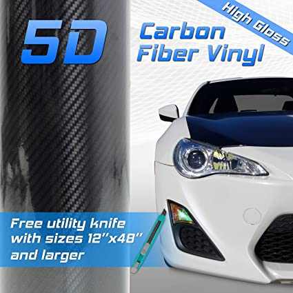 Auto Film Wrap Sticker Motorup America Carbon Fiber Vinyl Wrap 2D Carbon Fiber 12 x 50 Inch Roll