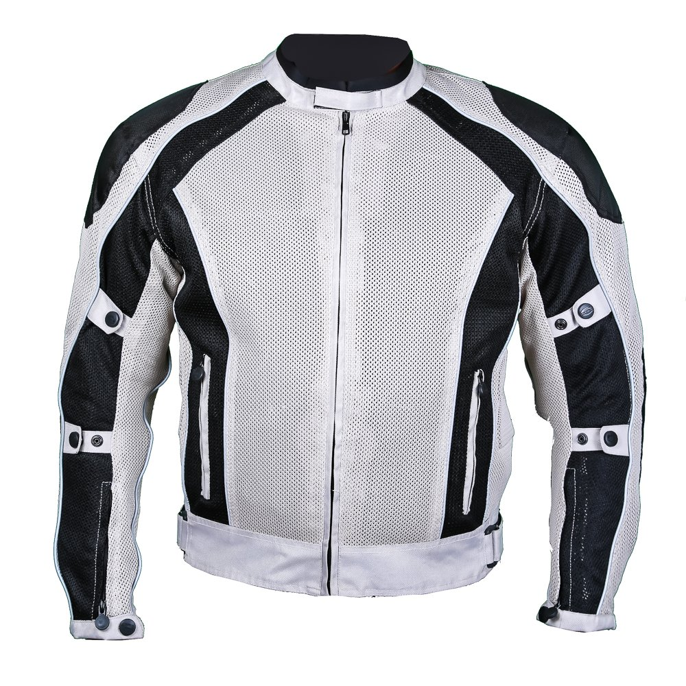 6th Gear Summer joy Mesh Jacket (XXL, SILVER)