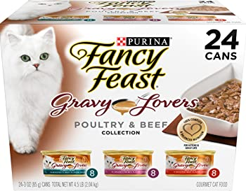 Nestle Purina Purina Fancy Feast Gravy Wet Cat Food (24) 3 oz. Cans