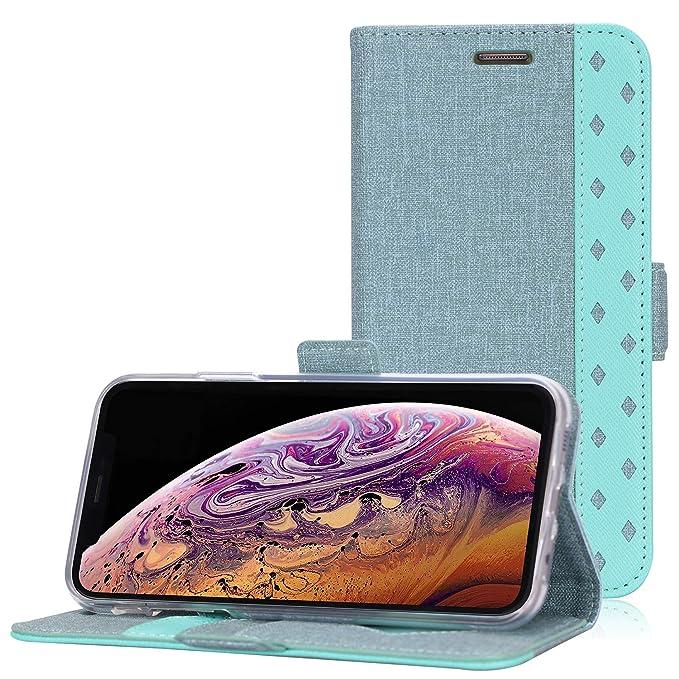 ProCase Funda Cartera para iPhone XS MAX, Estuche Billetera Protector con Ranuras de Tarjeta y Soporte, Carcasa Folio Plegabale para Apple iPhone XS ...