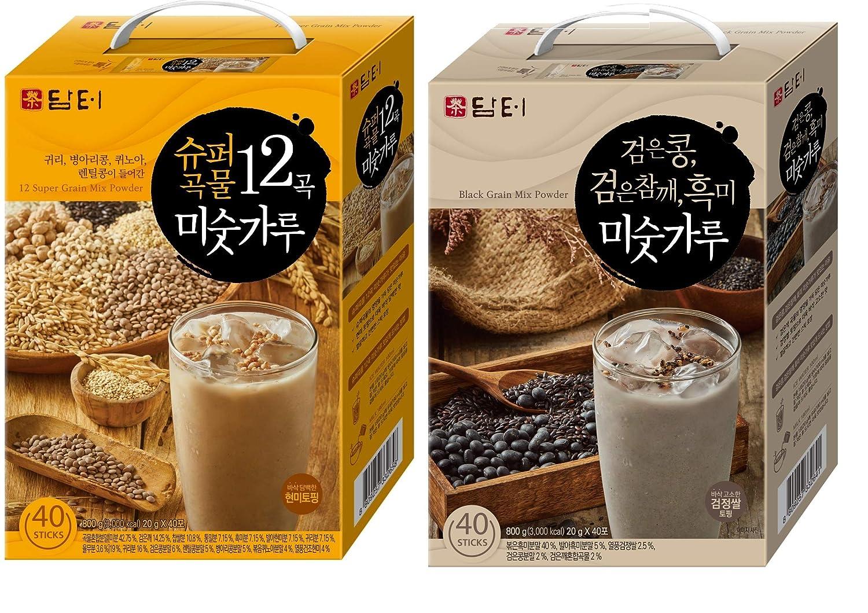 Damtuh - Polvo de granos negros tostados coreanos con granos ...