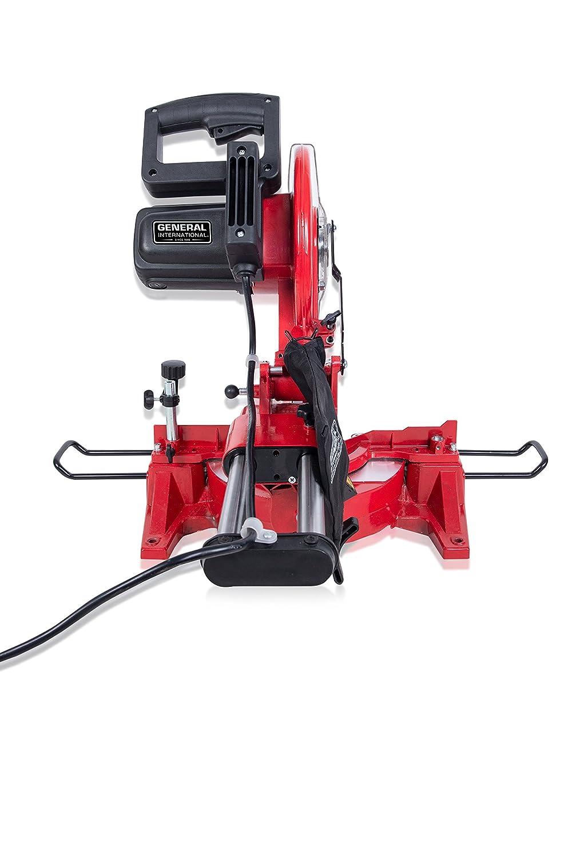 General International MS3005 10 15A Sliding Miter Saw Black /& Gray Red