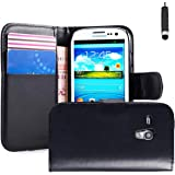 32nd Book Style Faux Leather Wallet Case for Samsung Galaxy S3 Mini (S iii Mini) - Black