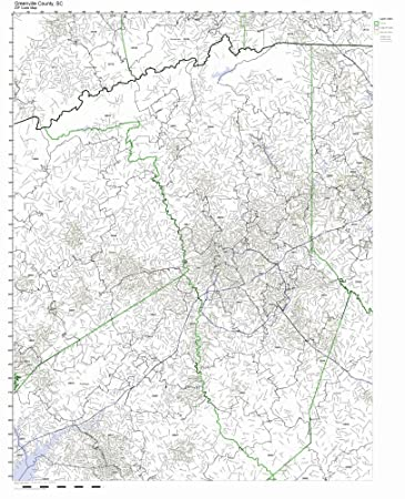 Greenville Sc Zip Code Map Amazon.com: Greenville County, South Carolina SC ZIP Code Map Not