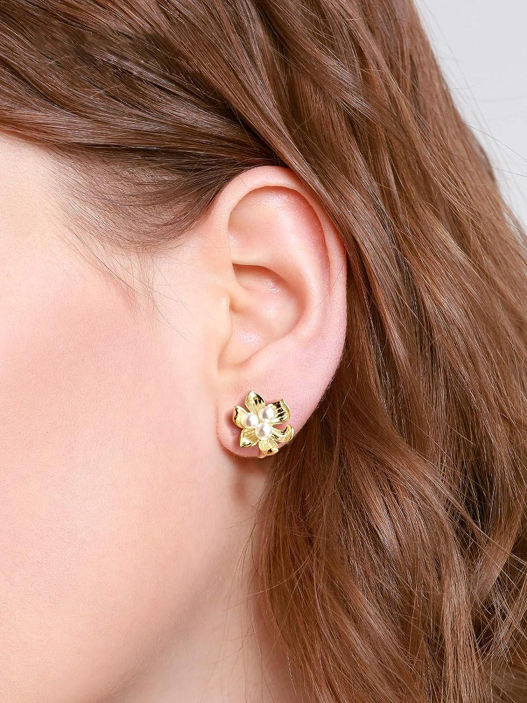 18K Gold Plated CZ Clip-On Earrings Tassel Drop Earrings and Clip on Earrings No Pierced for Women girl