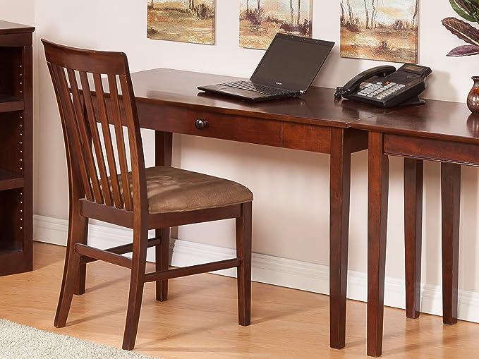 Merveilleux Amazon.com: Atlantic Furniture Shaker Writing Desk, Antique Walnut: Kitchen  U0026 Dining