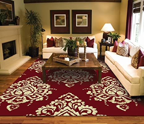 Burgundy And Cream Living Room Ideas