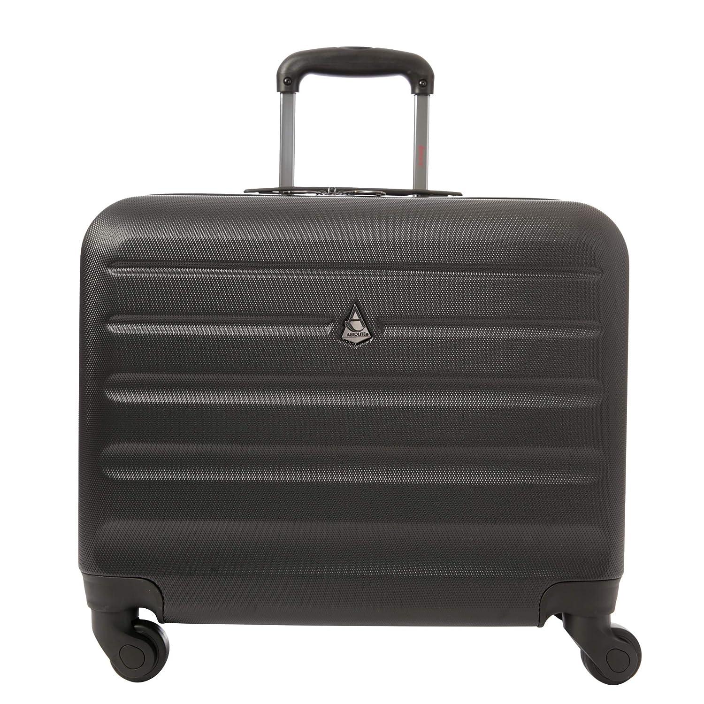 Negro Aerolite Trolley Maleta malet/ín r/ígida para port/átil Laptop pc 15,6 Equipaje de Mano de Cabina con 4 Ruedas