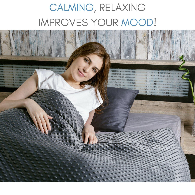 Snuggle Pro Luxury Minky Dot Duvet Cover for Weighted Blanket - 48''x72'' Twin Size/Full Bed Velvet Plush Weighted Blanket Cover by Snuggle Pro (Image #4)