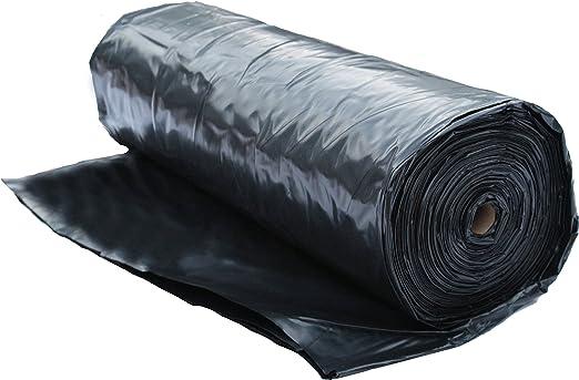 Construction Film Plastic Sheeting Roll 4 MIL Ground Cover Plastic Mulch Black for Painting 20x100 Plastic Tarp Concrete Moisture Vapor Barrier Weed Barrier Lumber Tarp