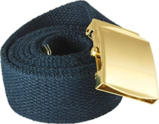 """product image for Red Rock Outdoor Gear 07-523 54"""" Cotton Web Belt (Doz.) - Navy w/Brass Plated Roller Buckle"""