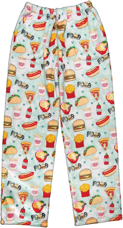 iscream Big Girls Silky Soft Plush Fleece Pants Pretty in Print Collection