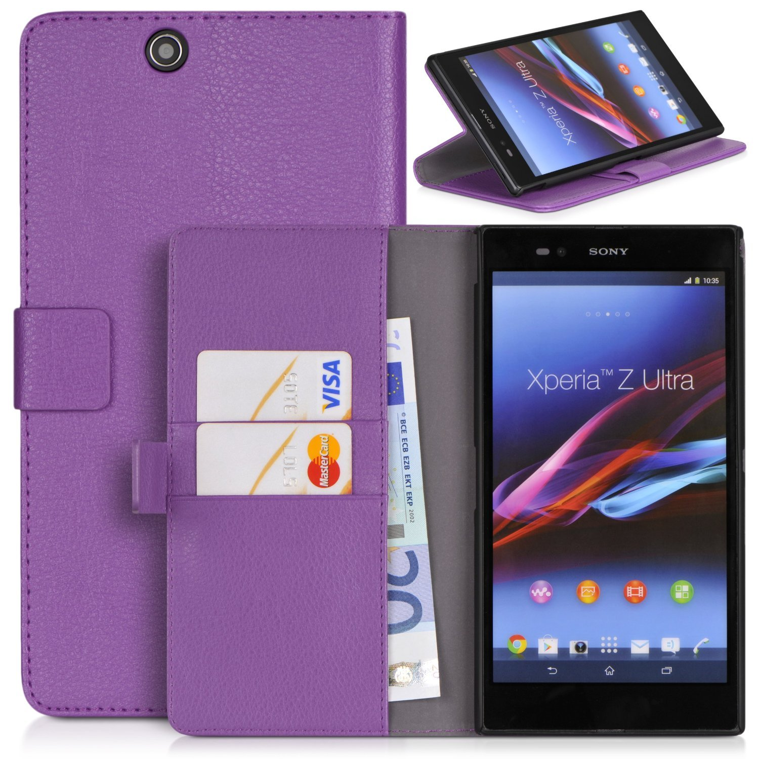 huge discount 91a04 04f0b Sony Xperia Z Ultra XL39h C6806 Case , Topratesell Structure Wallet ...
