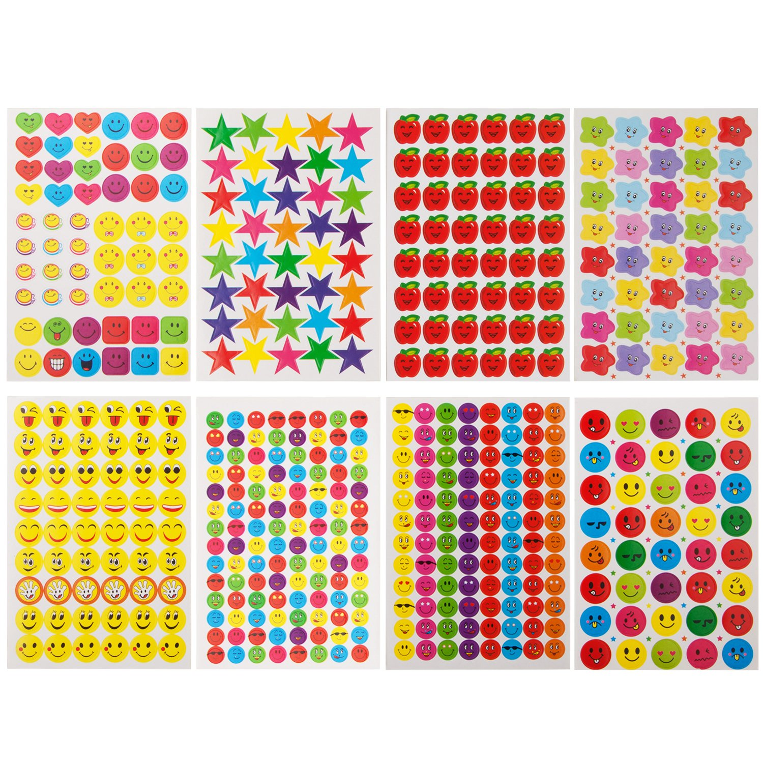 Amazon com super reward stickers for teachers 4900 total teacher stickers great value for parents school or classroom plus free sample pack