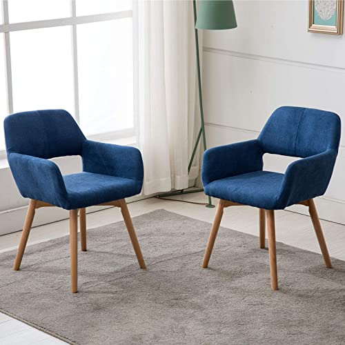 Lansen Furniture Set of 2 Modern Living Dining Room Accent Arm Chairs Club Guest