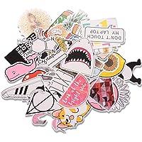 EKKONG Pegatinas, 46 Pack Kit de Pegatinas, Pegatinas Decorativas Stickers para Coche, Infantiles, Portátiles, Moto…