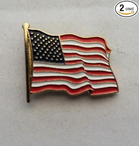 Patriotic US U.S USA U.S.A. High Quality American Waving Flag Lapel Pins