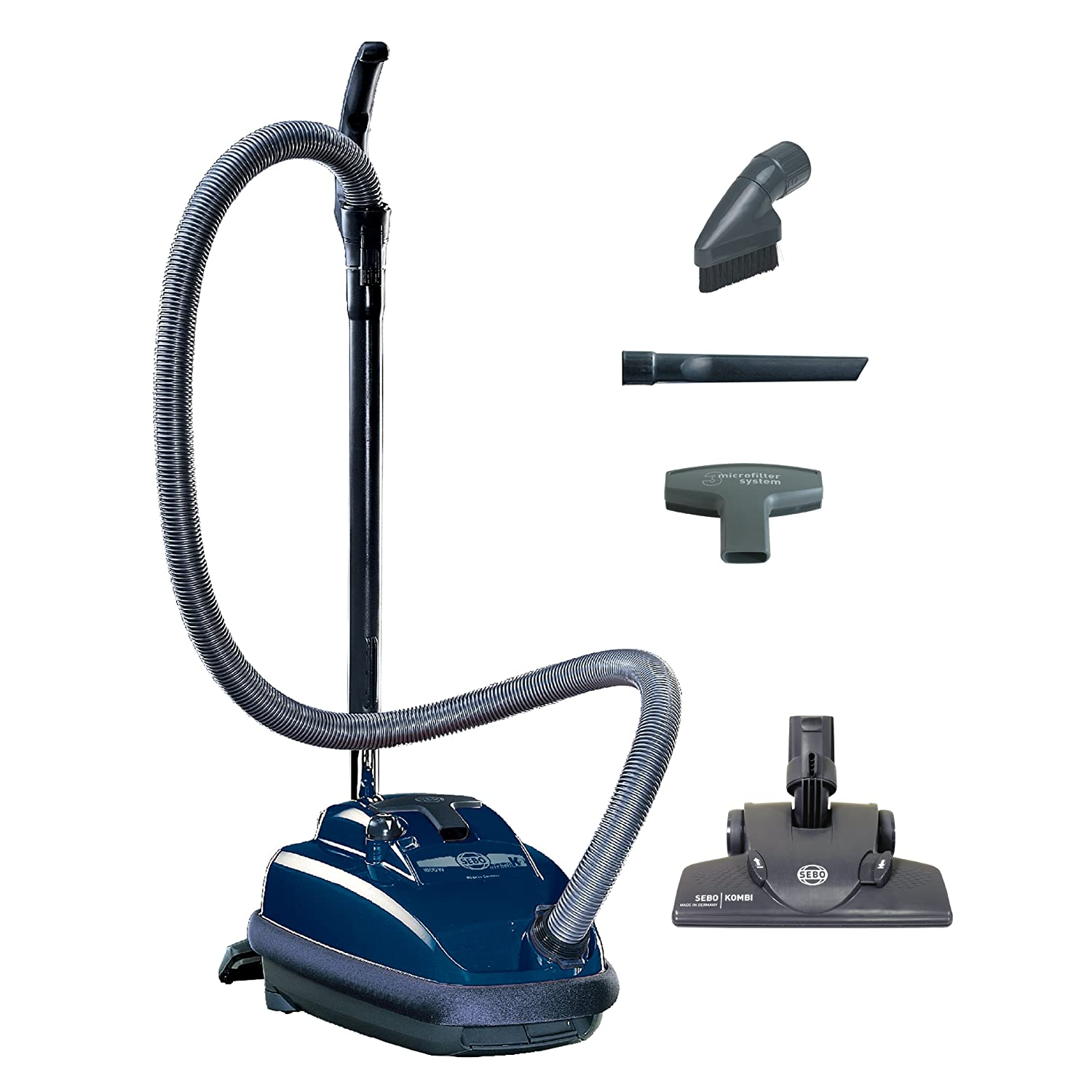 Sebo vacuum cleaners at bed bath and beyond - Amazon Com Sebo Vacuums 9679am Airbelt K2 Kombi Canister Vacuum Dark Blue Corded Household Canister Vacuums