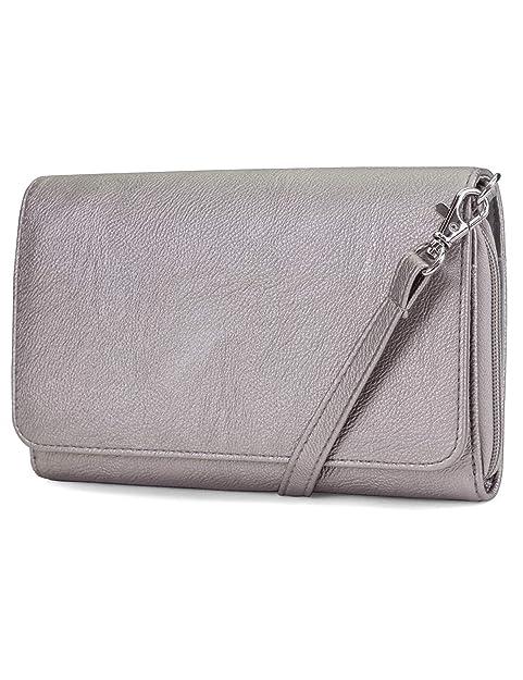 31becd16e1f0 Mundi RFID Crossbody Bag For Women Anti Theft Travel Purse Handbag Wallet  Vegan Leather ((