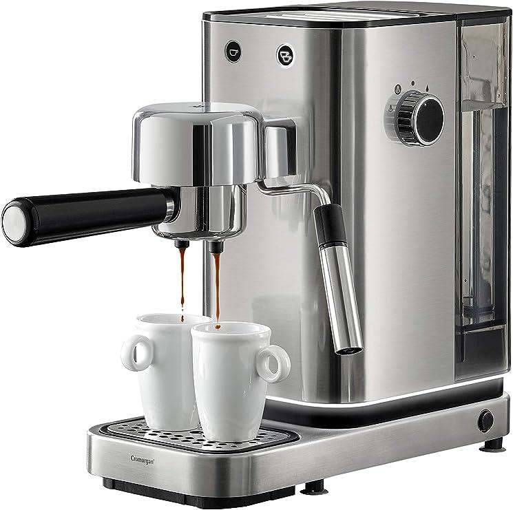 WMF Espresso Maker Lumero - Cafetera expresso manual, presión 15 bares, espresso, capuccino, regulable, capacidad 1.5 litros, café molido o monodosis, con espumador de leche, acero inoxidable, 1400 W: Amazon.es: Hogar