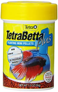 TetraBetta Plus Floating Mini Pellets for Betta